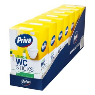 Priva WC- Stick Lemon 4 x 40 g, 7er Pack - Bild 1